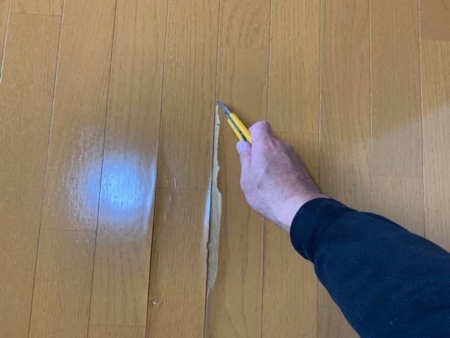 フローリング剥がれの補修 床の修理はクッションフロアでリフォームが格安 飾りんぼ 補修 フローリング フロア