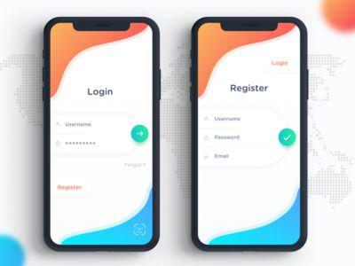 Minimal Login & Register Screen
