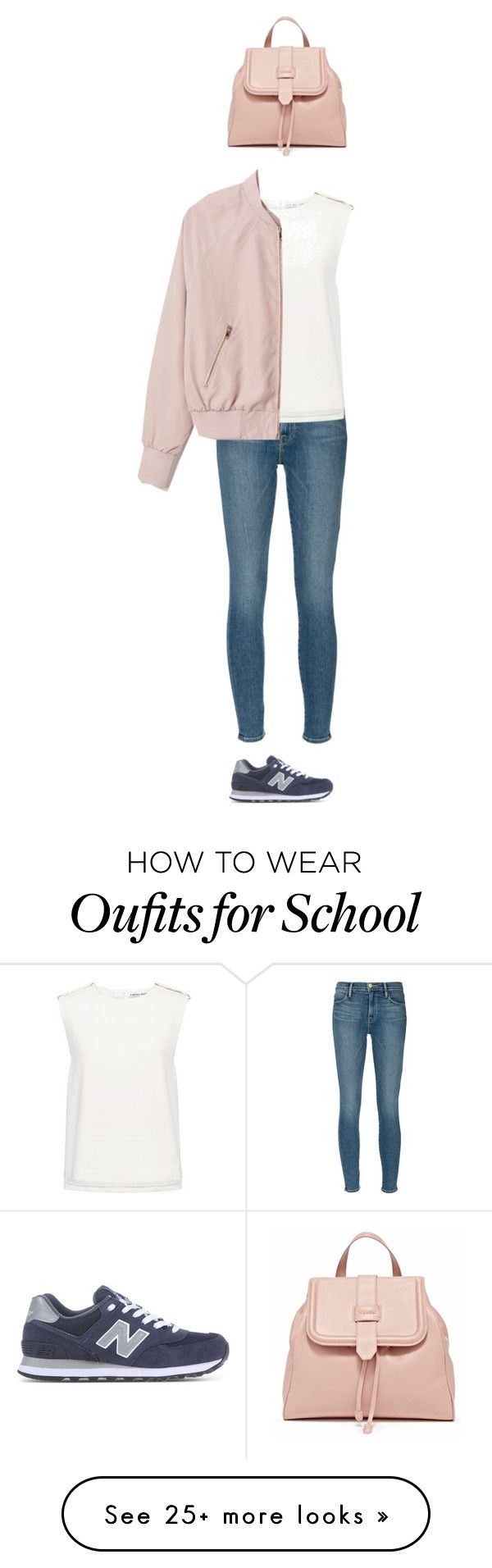 """School Day #1"" by athenamojzes on Polyvore featuring Frame Denim, New Balance and Finders Keepers"