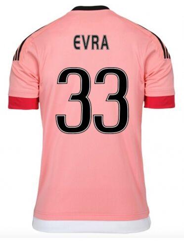 Juventus Jerseys 2015/16 Away Pink Soccer Shirt #33 EVRA