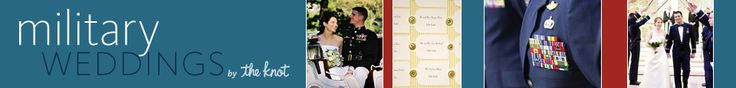 military wedding site, by the knot