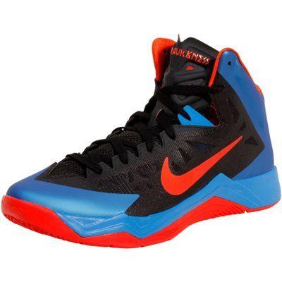 Nike Zoom Hyperquickness Basketball Shoes Black Game Royal Orange