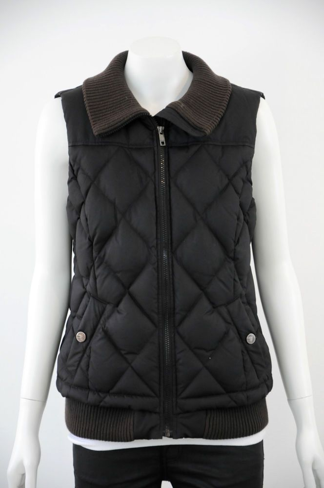 Esprit  Women s Zip Up Black Puffer Vest {Size 12}