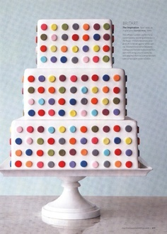 polka dot cake - the colors and the dots.  Bonus - it would not drive me nuts.  Polka dots can do that.