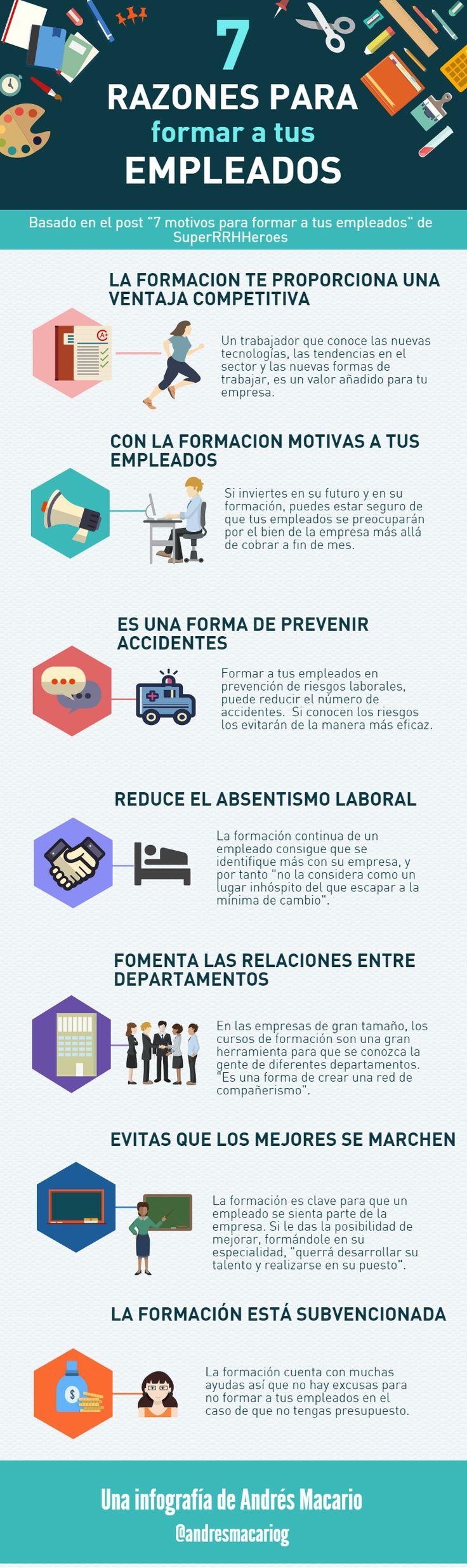 7 razones para formar a tus empleados #infografia