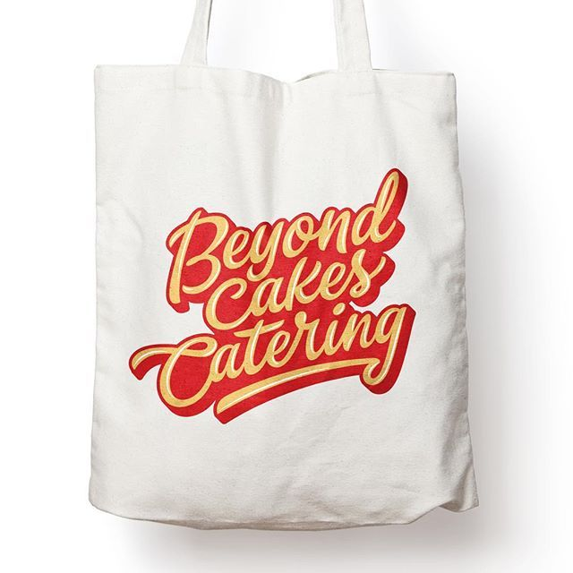 """""""Beyond Cakes Catering"""" lettering logo for a client!"""