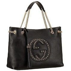 Replica Gucci Soho Studded Shoulder Bag Black With Rivets | sacoche gucci
