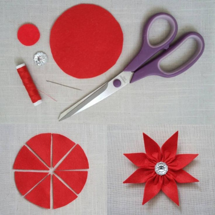 From this………..to this! Working on felt flower tutorials today, this is one…