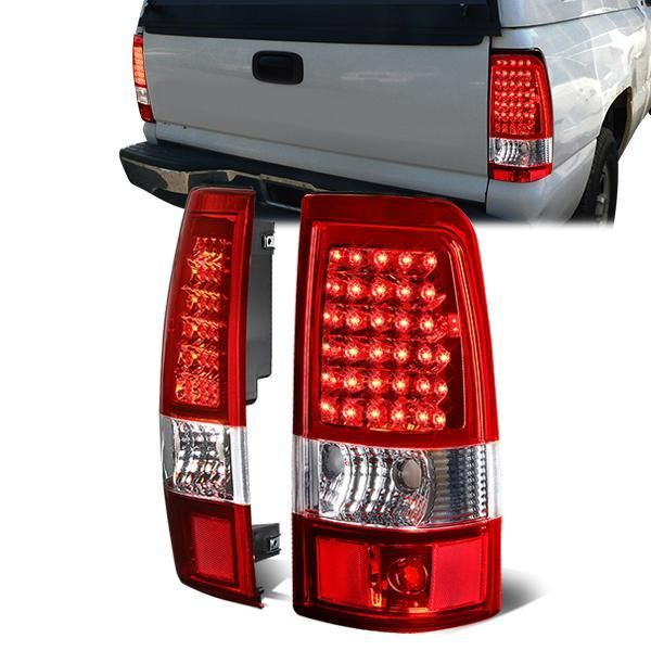 03 07 Chevy Silverado Gmc Sierra 1500 2500 3500 Hd Led Tail Lights Red Chevy Silverado Tail Light 07 Chevy Silverado