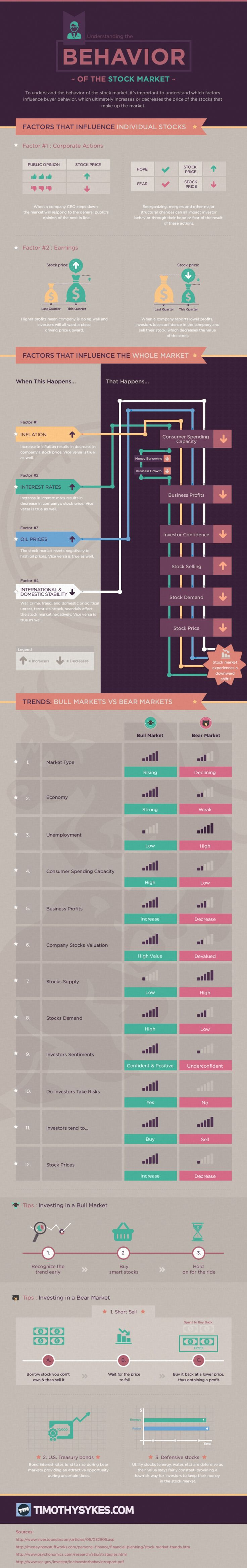 Understanding the Behavior of the Stock Market Infographic