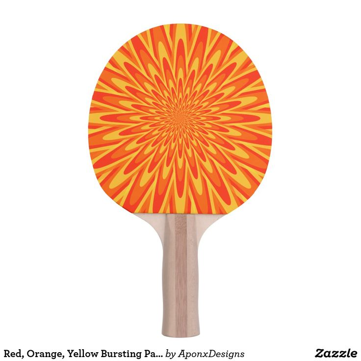 Red, Orange, Yellow Bursting Pattern Paddle