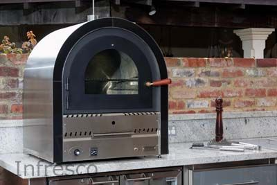 Infresco manufacture gas pizza ovens and wood-fired pizza ovens. We also retail Gasmate pizza ovens. | Infresco Outdoor and Alfresco Kitchens, Perth, Melbourne, Adelaide