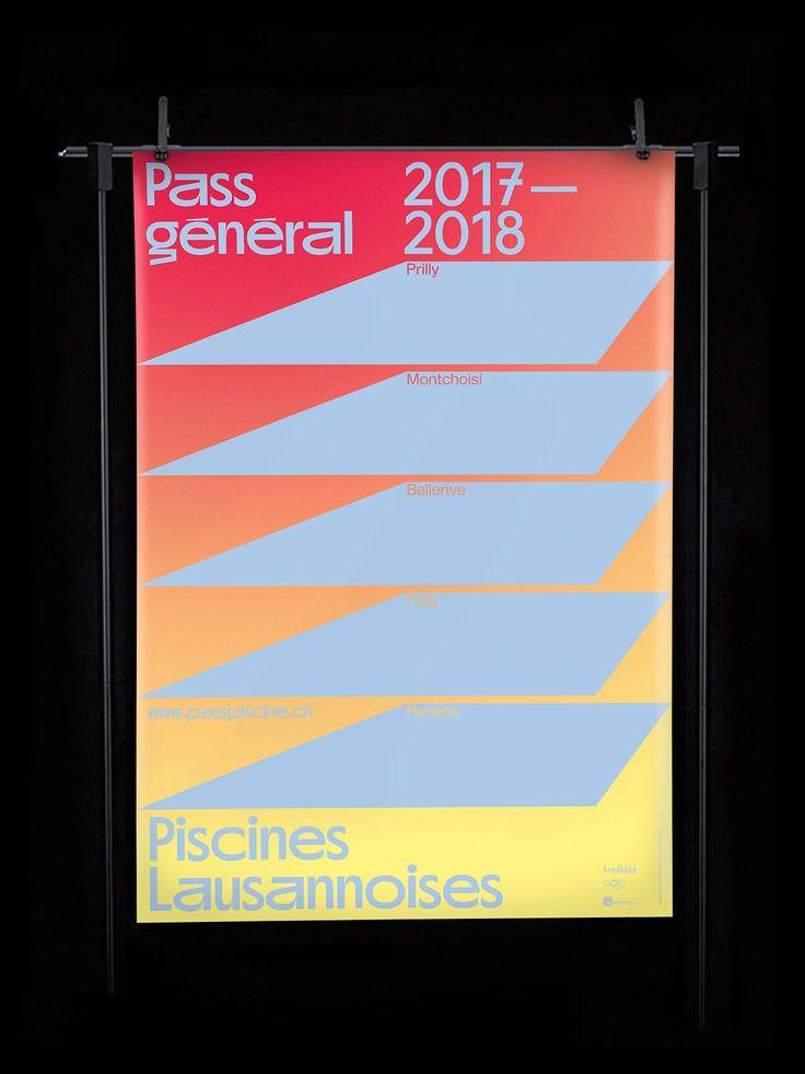 Piscines Lausannoises — Pass général 2017-2018 (Promo version)  Poster F4 / Chlore Display Medium (out soon) + Lausanne Regular  Nizar Kazan