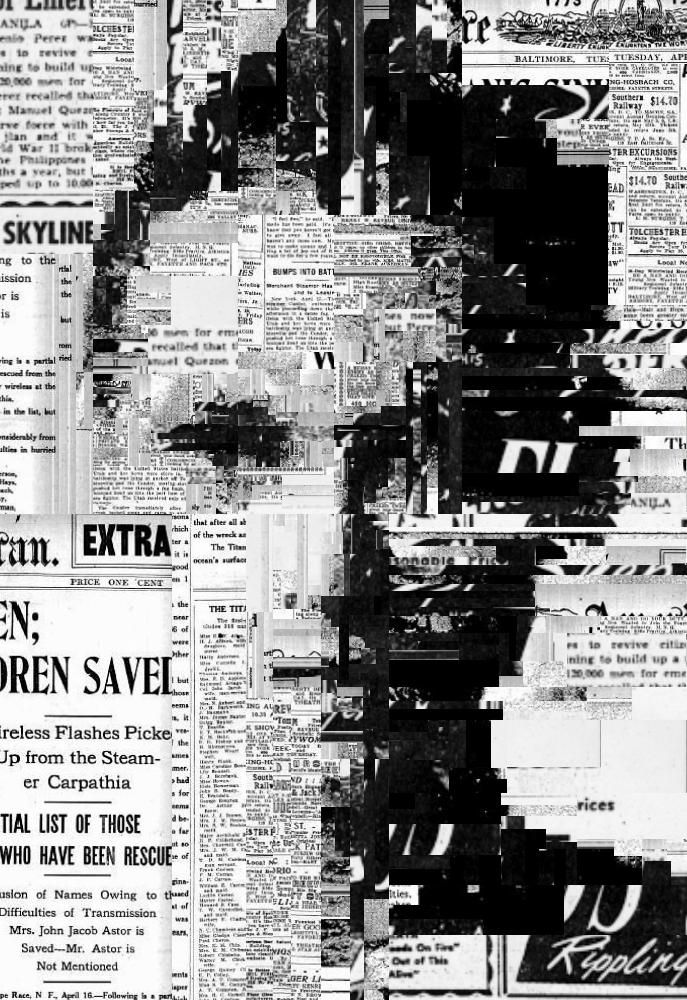 This image has a girl's face which is made up of text and cut outs from newspapers and magazines. I chose this image because I liked how the texts were used to piece together a face and the level of detail used in the collage.