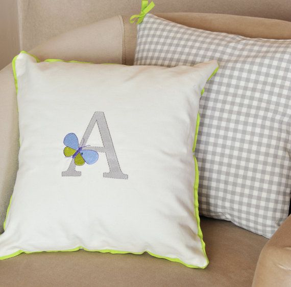PERSONALIZED LETTER pillow cover excelent by letsdecorateonline, $25.90