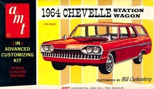 1964 Chevy Chevelle Malibu Station Wagon (3 'n 1) Stock, Custom or Racing (1/25) MINT | vintage model kits and hobbies | Pinterest | Chevy, Station Wagon and C…