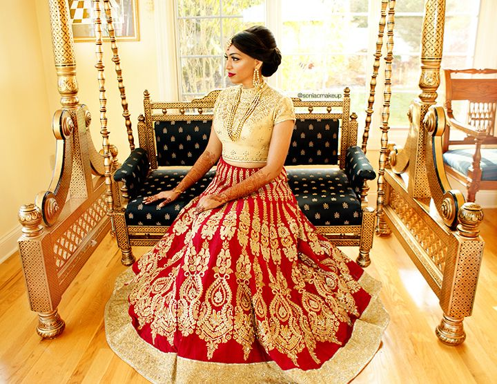 Indian bride, sabyasachi bride, sabyasachi lengha ...