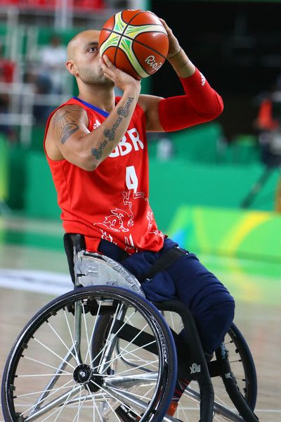Gaz Choudhry of Great Britain during the Men Wheelchair Basketball match between Great Britain and Iran at the Olympic Arena on Day 2 of the Rio 2016 Paralympic Games on September 9, 2016 in Rio de Janeiro, Brazil.