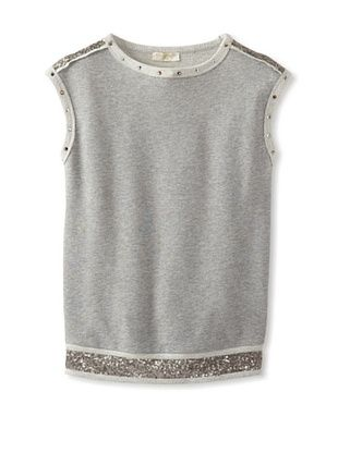55% OFF Monnalisa Girl's Tunic with Sequins (Gray)