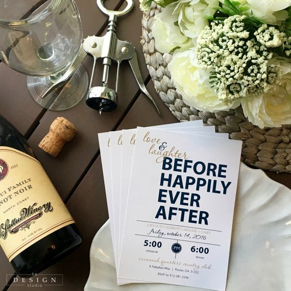 Love and Laughter Rehearsal Dinner Invitation by kedesignstudio