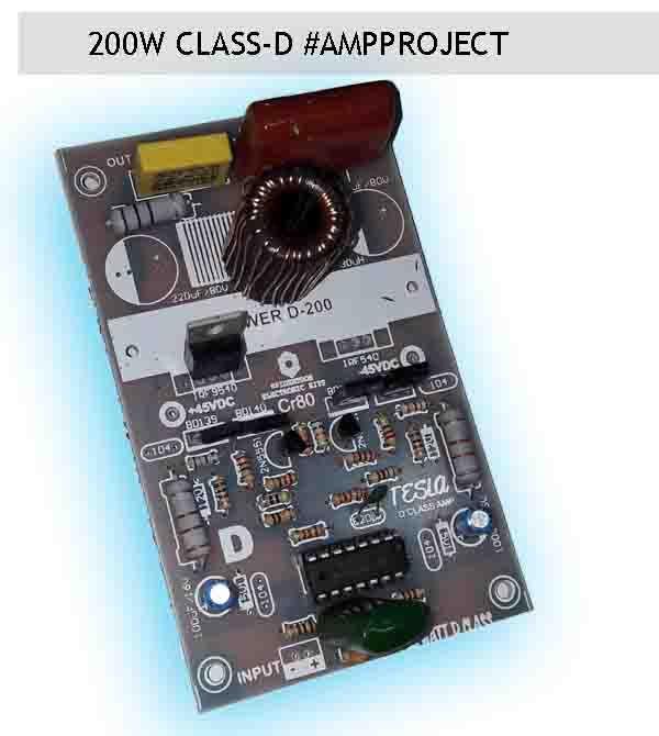 200W Class D Amplifier
