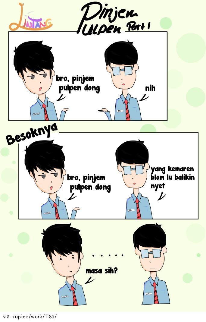 Pinjem Pulpen - Rupi - Social Comic Strip @rupidotco