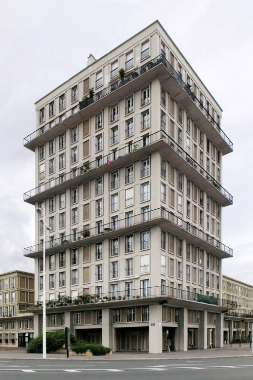 Auguste perret tower le havre maestri auguste perret for 3d architecture le havre