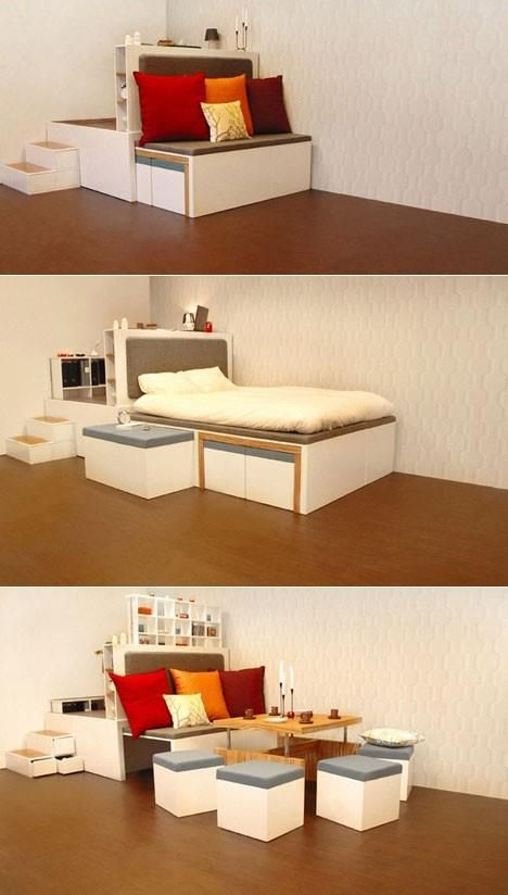 17 best ideas about space saving bedroom on pinterest space saving space saving bedroom - Space saving ideas for small rooms gallery ...