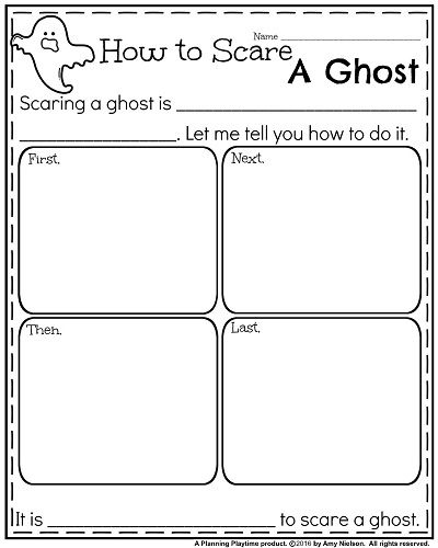 Fall Writing Prompts - Informative How to Scare a Ghost