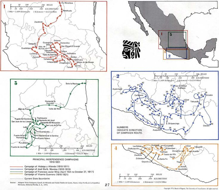 Mexico 1810 - 1821