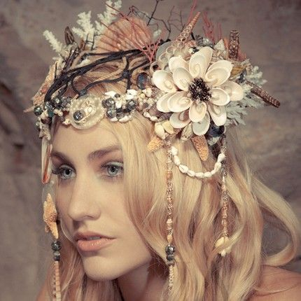 SIREN SONG Oneofakind Mermaid headdress LIAISON by Kat by liaison
