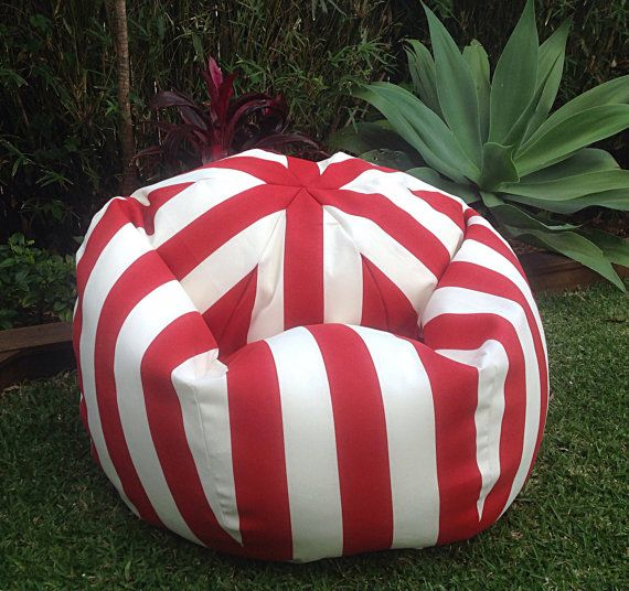 Outdoor Bean Bag Canopy Stripe Indoor Beanbag Red And
