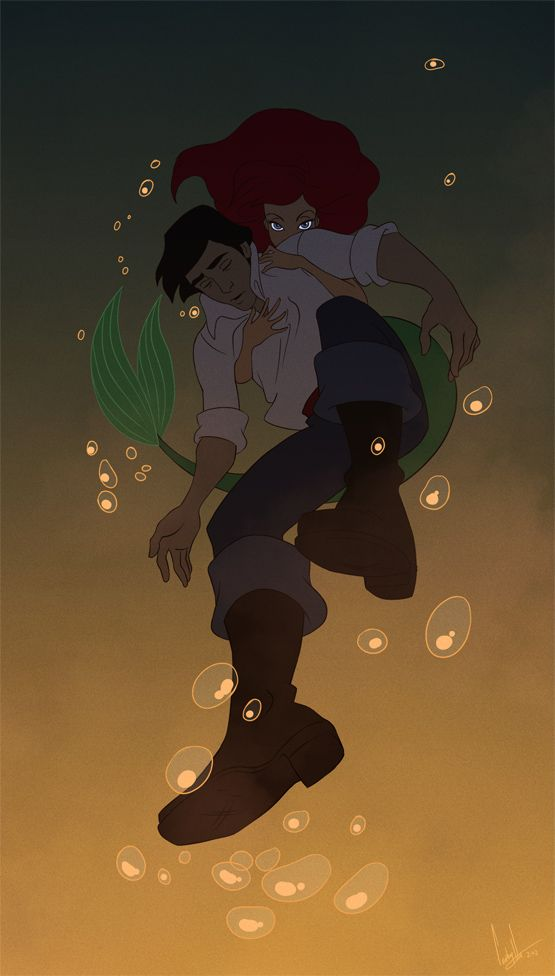 I love Disney. Especial Little Mermaid. This looked very cool! Made by hellcorpceo.
