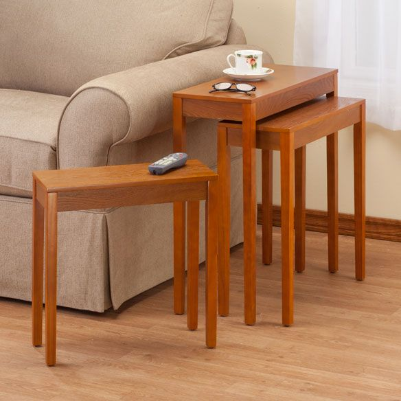 Charming Classic Nesting End Tables Provide Space Saving Functionality To Any Room.  Nesting Side Tables