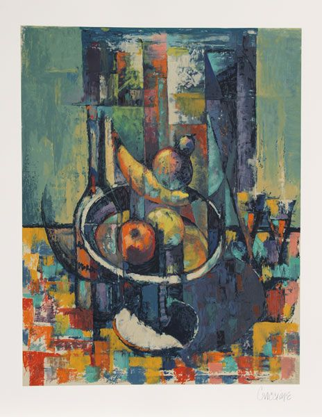 Artist: Bob Guccione Title: Still Life Year: Circa 1990 Medium: Lithograph on Arches, signed and numbered in pencil Edition: 300, AP 25 Image Size: 28.5 x 22 inches Paper Size: 36 in. x 28.5 in. (91.44 cm x 72.39 cm)