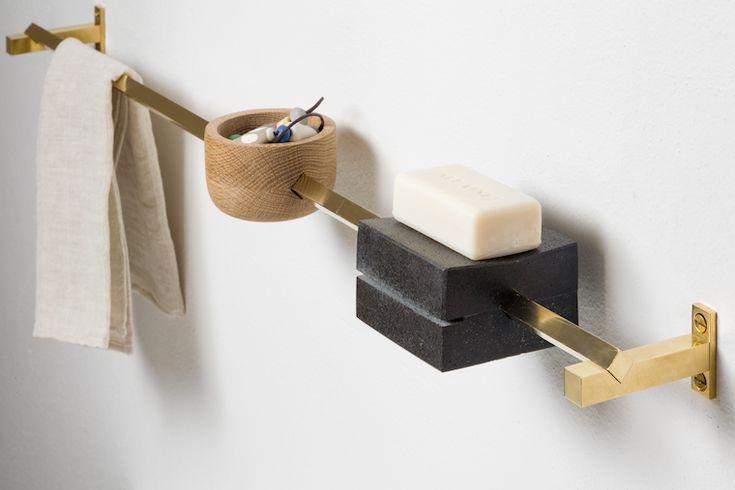 tránsito inicial. Toallero / jabonera / porta cepillos/ #bathroom