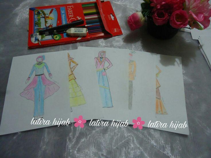 Skecth. Fashion design. Design muslimah.