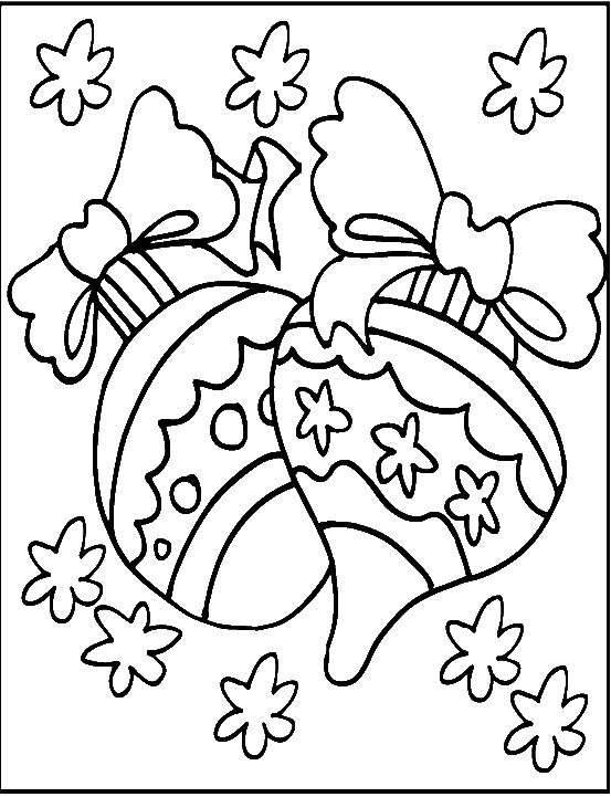 Christmas Ornament Great And Cool Coloring Page