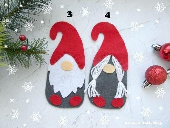 Gnome Ornament Felt Scandinavian Christmas Ornaments Decorations Felt Christmas Ornaments Christmas Ornaments Felt Ornaments Patterns