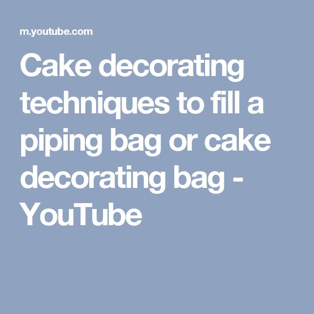 How To Fill Cake Decorating Bags : 17 Best ideas about Cake Decorating Piping on Pinterest ...