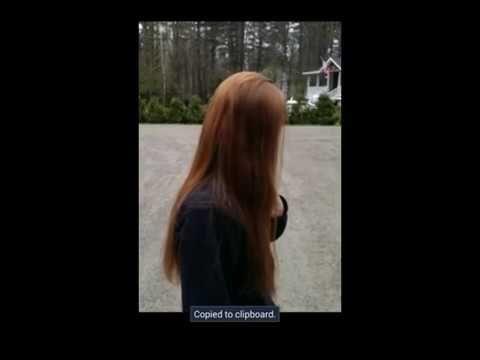 Haircut on Redhead   Long to Short Hair Cut