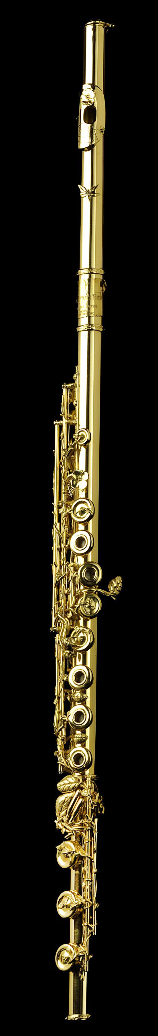 """The Dryad's Touch"" 18k green gold art nouveau flute."