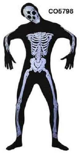 Skinz Skeleton Body Suit Mens Costume $59.95 Free Shipping