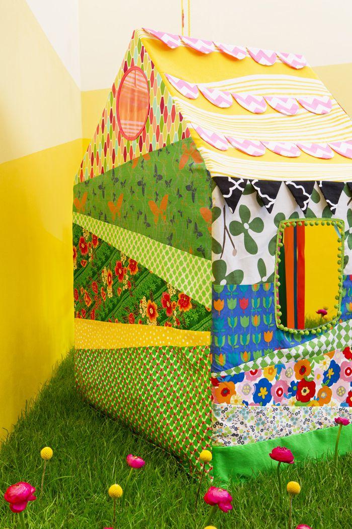 Dessine-moi une maison, Rosalie une cabane en tissus pour les enfant par Les Trafiquantes