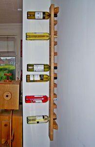 Wine Rack Wall Mounted Handmade In Solid Oak Long - living room