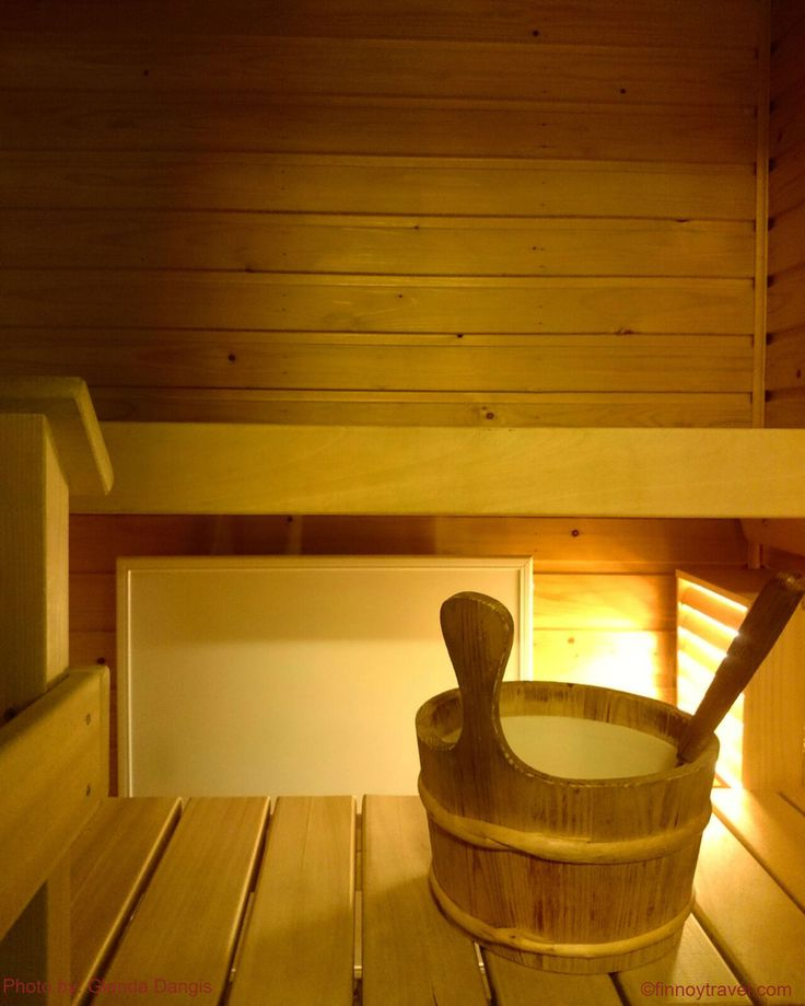 Almost every second Finnish home has a sauna. Home saunas are small and cosy and normally they are heated by electricity. Photo by Glenda Dangis</em>.