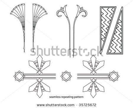 Art deco elements by h cooper via shutterstock dise os - Art deco design elements ...