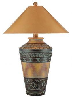 Southwest Lamps, AP-9472 Apache Southwestern Style Table Lamp