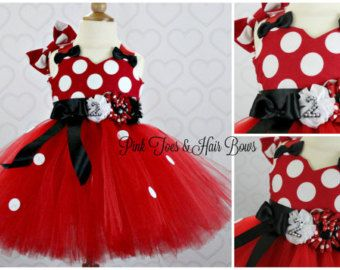 Pink and gold Minnie Mouse Tutu dress Pink Minnie Mouse tulle