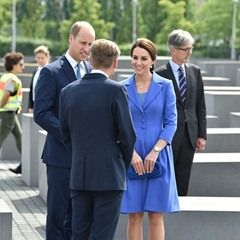 British Prince William and his wife, Duchess Kate at the Holocaust Memorial